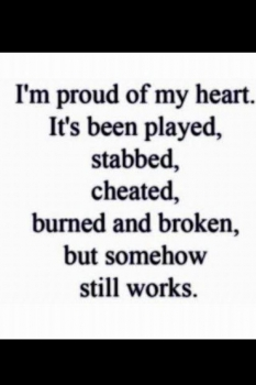 Be proud of your heart