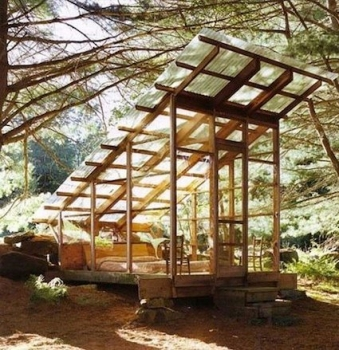 Solar forest cabin