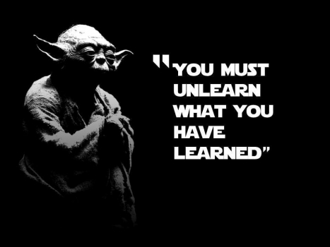Unlearn what you have learned